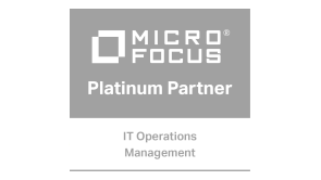 "Logo ""MicroFocus Gold Partner IT Operations Management"""