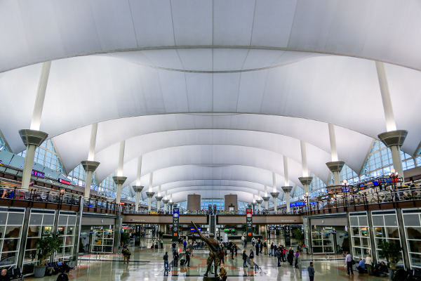 Denver Great Hall. Photograph provided courtesy of Denver International Airport.