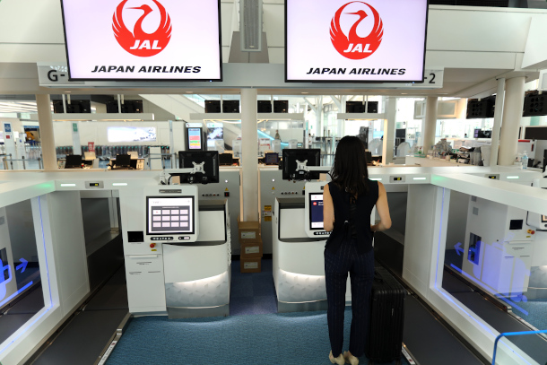 Japan Airlines (JAL) passengers are already using the self bag drop system